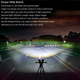 XuanBa Lampu Mobil ATV SUV Truck LED 6D Lens 4 Inch 30W Rectangle Design - X6 - Black - 5
