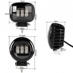 XuanBa Lampu Mobil ATV SUV Truck LED 6D Lens 4 Inch 30W Rectangle Design - X6 - Black - 9