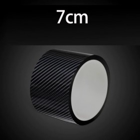 MSUE Stiker Pelindung Mobil Protector Carbon Fiber Car Wrap Film Vynil 7 cm x 5 Meter - C3841 - Black