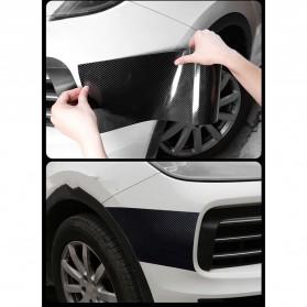 MSUE Stiker Pelindung Mobil Protector Carbon Fiber Car Wrap Film Vynil 7 cm x 5 Meter - C3841 - Black - 10