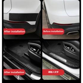 MSUE Stiker Pelindung Mobil Protector Carbon Fiber Car Wrap Film Vynil 7 cm x 5 Meter - C3841 - Black - 11