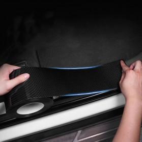 MSUE Stiker Pelindung Mobil Protector Carbon Fiber Car Wrap Film Vynil 7 cm x 5 Meter - C3841 - Black - 3