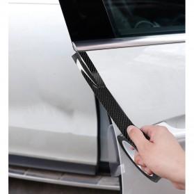 MSUE Stiker Pelindung Mobil Protector Carbon Fiber Car Wrap Film Vynil 7 cm x 5 Meter - C3841 - Black - 7