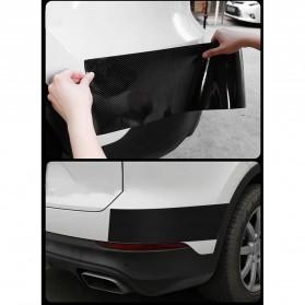 MSUE Stiker Pelindung Mobil Protector Carbon Fiber Car Wrap Film Vynil 7 cm x 5 Meter - C3841 - Black - 9