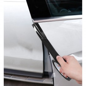 MSUE Stiker Pelindung Mobil Protector Carbon Fiber Car Wrap Film Vynil 5 cm x 5 Meter - C3841 - Black - 7