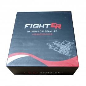 Fighter Lampu Mobil LED Headlight 16000LM 80W 6000K H4 12V 2 PCS - Silver - 10