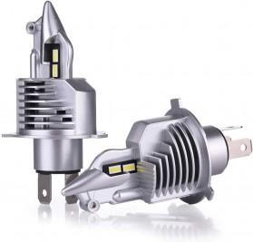 Fighter Lampu Mobil LED Headlight 16000LM 80W 6000K H4 12V 2 PCS - Silver