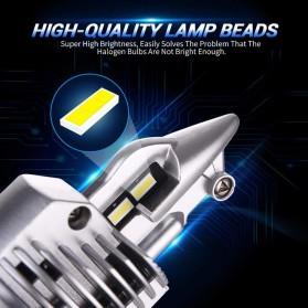 Fighter Lampu Mobil LED Headlight 16000LM 80W 6000K H4 12V 2 PCS - Silver - 2