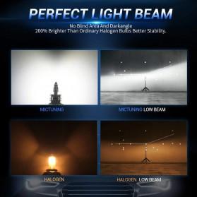 Fighter Lampu Mobil LED Headlight 16000LM 80W 6000K H4 12V 2 PCS - Silver - 3