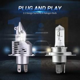 Fighter Lampu Mobil LED Headlight 16000LM 80W 6000K H4 12V 2 PCS - Silver - 6