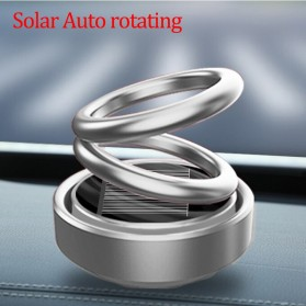Solary Parfum Mobil Aromatherapy Air Freshener Rotating Decoration Solar Panel Metal - XS-188 - Silver