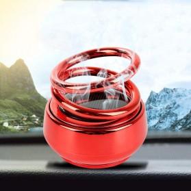 Solary Parfum Mobil Aromatherapy Air Freshener Rotating Decoration Solar Panel Metal - XS-188 - Silver - 2