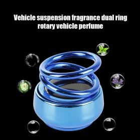 Solary Parfum Mobil Aromatherapy Air Freshener Rotating Decoration Solar Panel Metal - XS-188 - Silver - 7