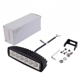 JCBFARA Lampu LED Spot Flood Mobil Truck ATV 18W - DRL18W - Black - 6