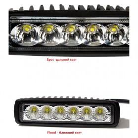 JCBFARA Lampu LED Spot Flood Mobil Truck ATV 18W - DRL18W - Black - 8