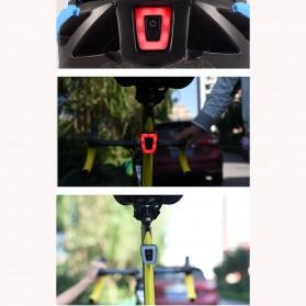Deemount Lampu Belakang Sepeda Bicycle Taillights Safety Lamp - DC300 - Black - 3