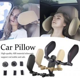 HOYOO Side Headrest Pillow Sandaran Kepala Kursi Bantal Mobil Cover Kulit - HY33 - Black