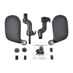 HOYOO Side Headrest Pillow Sandaran Kepala Kursi Bantal Mobil Cover Mesh - HY33 - Black - 10