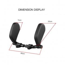 HOYOO Side Headrest Pillow Sandaran Kepala Kursi Bantal Mobil Cover Mesh - HY33 - Black - 3