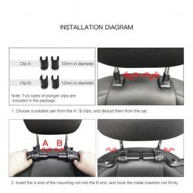 HOYOO Side Headrest Pillow Sandaran Kepala Kursi Bantal Mobil Cover Mesh - HY33 - Black - 8