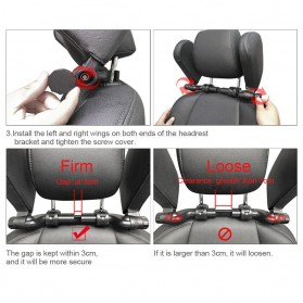 HOYOO Side Headrest Pillow Sandaran Kepala Kursi Bantal Mobil Cover Mesh - HY33 - Black - 9