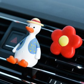 Aimocar Dekorasi Mobil Car Air Vent Clip Model bebek - A001 - Red/White - 4