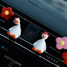 Aimocar Dekorasi Mobil Car Air Vent Clip Model bebek - A001 - Red/White - 6