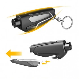 Tao Hua Yuan Pemecah Kaca Mobil Safety Glass Breaker Seat Belt Cutter - CS-B12 - Black - 4