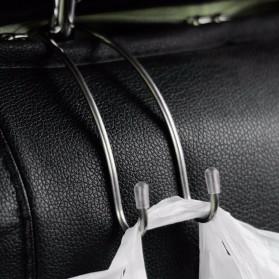 IMEWE Gantungan Organizer Barang Mobil Headrest Hook - I305 - Silver