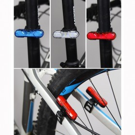 ROBESBON Lampu Belakang Sepeda USB Rechargeable Bicycle Tail Light - AS1010 - Blue - 8