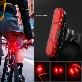 ROBESBON Lampu Belakang Sepeda USB Rechargeable Bicycle Tail Light - AS1010 - Blue - 9