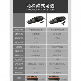 Rundong Handheld Vacuum Cleaner Portable Penyedot Debu Mobil 120W - ATJ-2266 - Black - 7