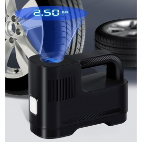 SUITU Inflator Pompa Angin Ban Mobil Elektrik LCD Display - ST-217A - Black