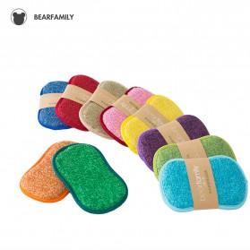 BEAR FAMILY Kain Lap Dapur Microfiber Cleaning Magic Sponge Scrub - BE10 - Mix Color