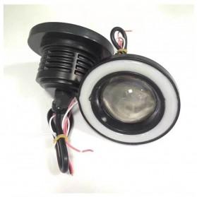 IPS Lampu Mobil Kabut Angel Eyes Fog Lamp Fisheye COB LED 76mm 12V - M609 - White - 4
