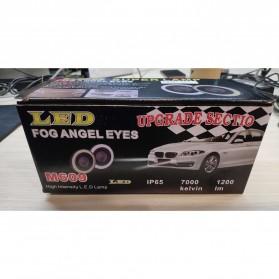 IPS Lampu Mobil Kabut Angel Eyes Fog Lamp Fisheye COB LED 76mm 12V - M609 - White - 6
