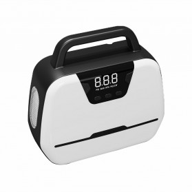 EFHIPS Inflator Pompa Angin Ban Mobil Dual Cylinder 150 PSI LCD Display - ATJ-1866 - Black White