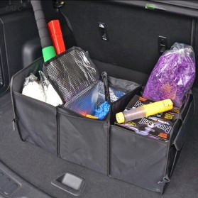 EAFC Organizer Bagasi Mobil Car Storage Collapsible Container Box - EA3 - Black