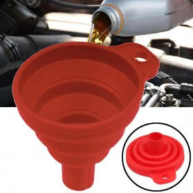 Carzkool Corong Lipat Air Minyak Bensin Kendaraan Collapsible Silicone Funnel - XMO800 - Mix Color