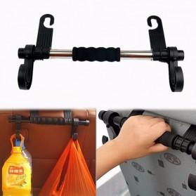 CARSUN Gantungan Organizer Barang Mobil Headrest Hook - LA8879 - Black