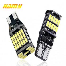 Hamy Lampu LED Mobil SMD T15 W16W 4014 45SMD 12V 6500K 1PCS - FITC - Black