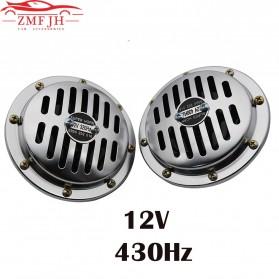 ZMFJH Klakson Mobil Truk Loud Air Horn 12V 110dB 2 PCS - ACH0027 - Silver
