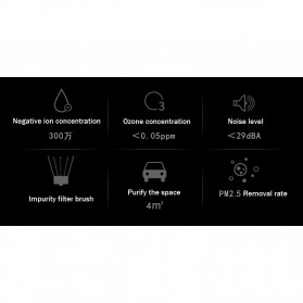 GISAEV Pembersih Udara Mobil Air Purifier with Car Ozonizer Ionizer - EP501 - Black - 8