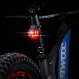TWOOC Backlamp Lampu Sepeda USB Rechargeable - Black - 7