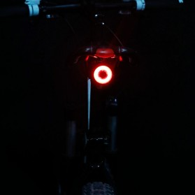 Enfitnix XLite 100 Lampu Sepeda Smart LED Taillight Saddle Mount with Plate Bracket - Black - 6
