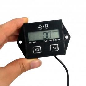 Kebidumei Tachometer Engine Car Motorcycle Stroke LCD Digital Display - RL-HM011N - Black