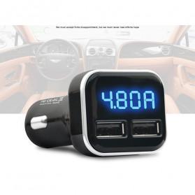 CARPRIE Car Charger Smartphone 2 Port 4.8A QC3.0 LCD Display - 9726 - Black - 4