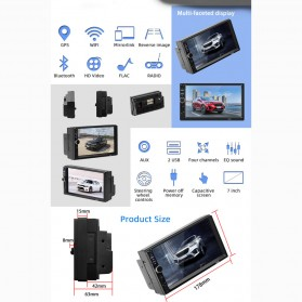 ANENG Android Tape Audio Mobil MP5 Media Player Monitor LCD 7 Inch FM Radio Bluetooth 4.0 - 7018B - Black - 2