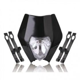 POWERZONE Lampu Pengganti Motorcycle Headlight Headlamp H4 12V 35W For 2017 18 KTM - HF001 - Black