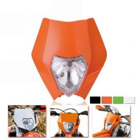 POWERZONE Lampu Pengganti Motorcycle Headlight Headlamp H4 12V 35W For 2017 18 KTM - HF001 - Black - 4